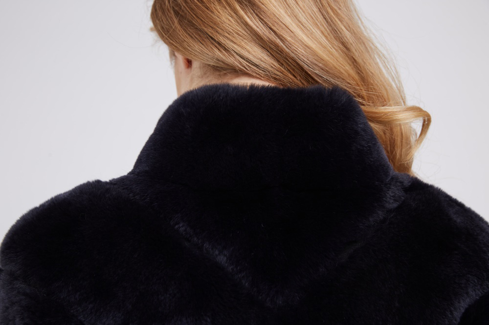 Batwing Rex Rabbit Fur Jacket 213 Details 2