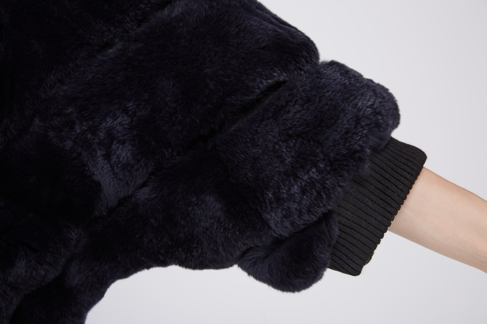 Batwing Rex Rabbit Fur Jacket 213 Details 4