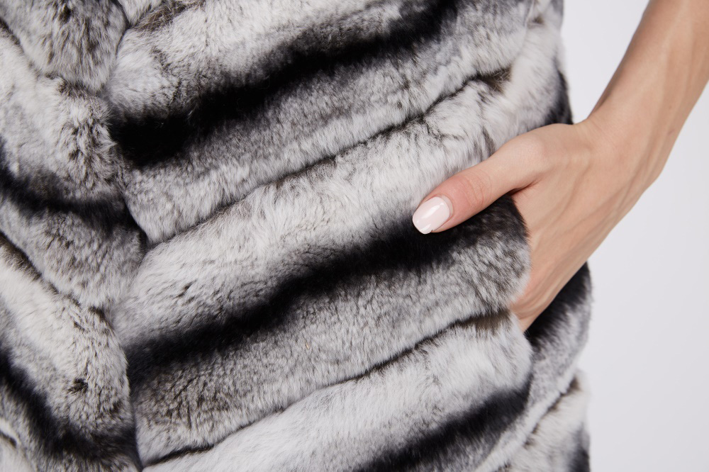 Rex Rabbit Fur Vest 217 Details 4