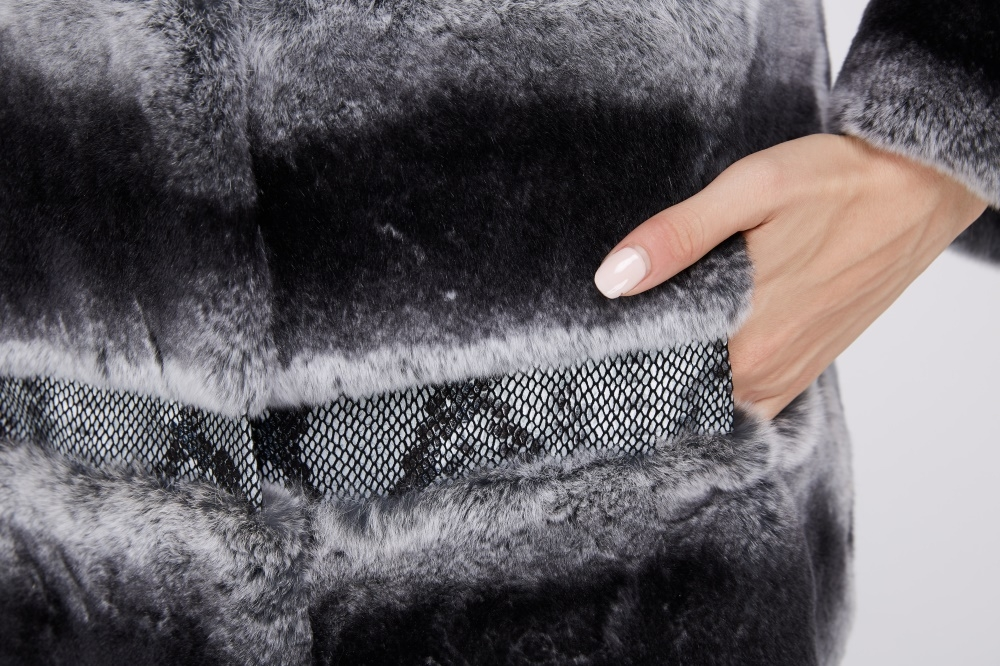 Rex Rabbit Fur Coat 219 Details 3