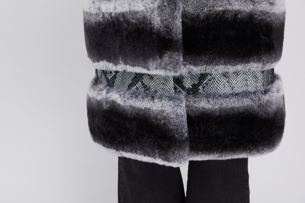 Rex Rabbit Fur Coat 219 Details 4