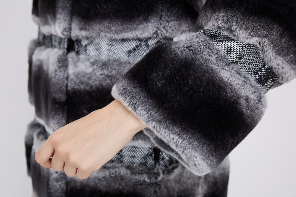 Rex Rabbit Fur Coat 219 Details 5