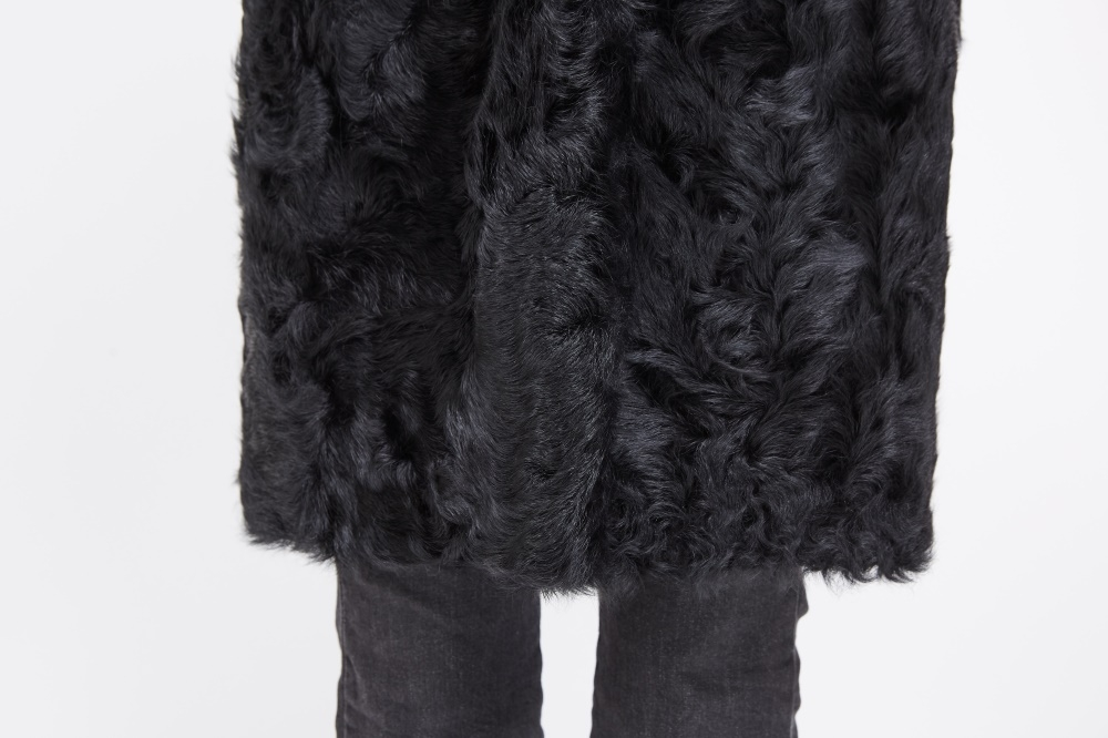 Rex Rabbit Fur Coat with Lamb Fur Half Bottom 226 Details 5