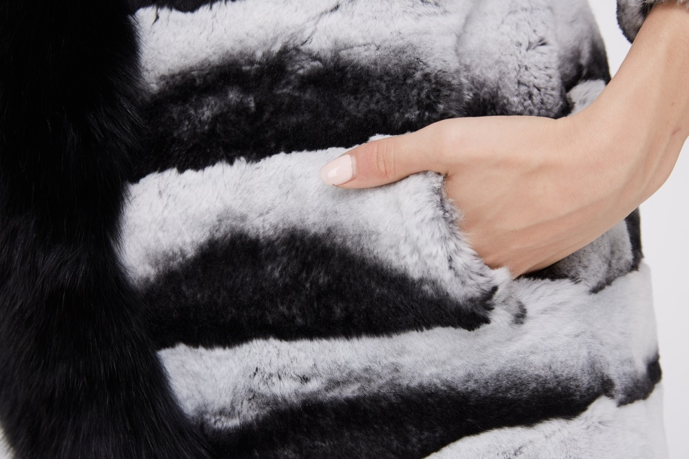 Rex Rabbit Fur Coat 228 Details 3