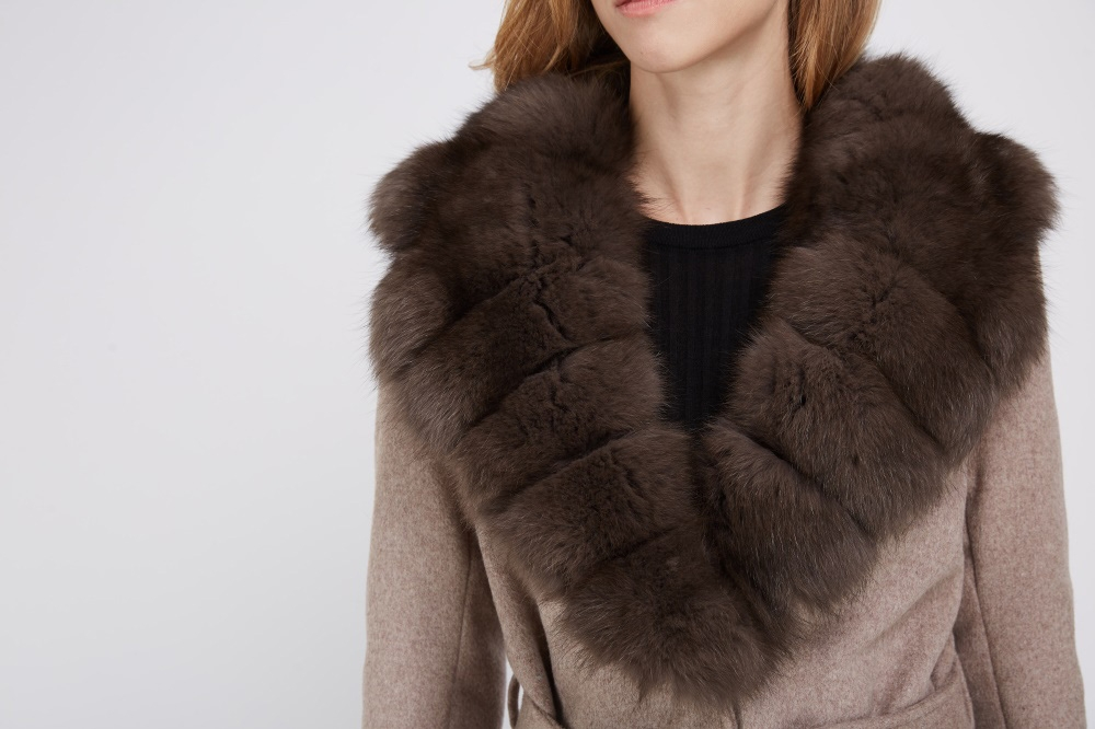 Cashmere Coat with Fox Fur Trimmed Collar 239 Details 1