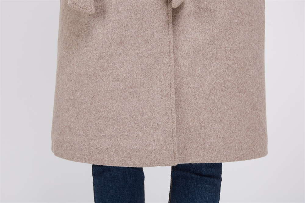 Cashmere Coat with Fox Fur Trimmed Collar 239 Details 6