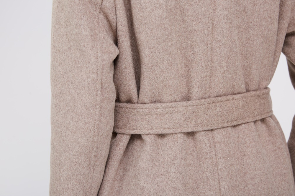 Cashmere Coat with Fox Fur Trimmed Collar 239 Details 7