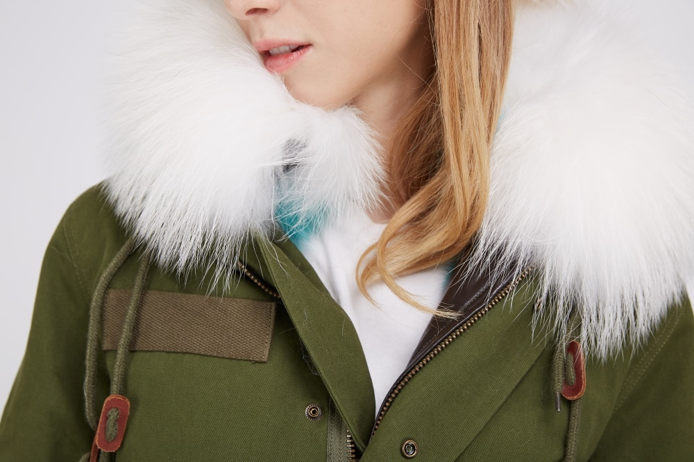 Fox Fur Lined Parka with Raccoon Fur Trimmed Hood 245 Details 1