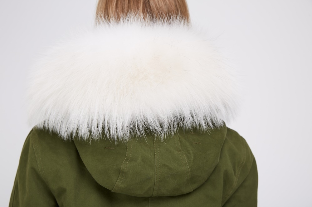 Fox Fur Lined Parka with Raccoon Fur Trimmed Hood 245 Details 2