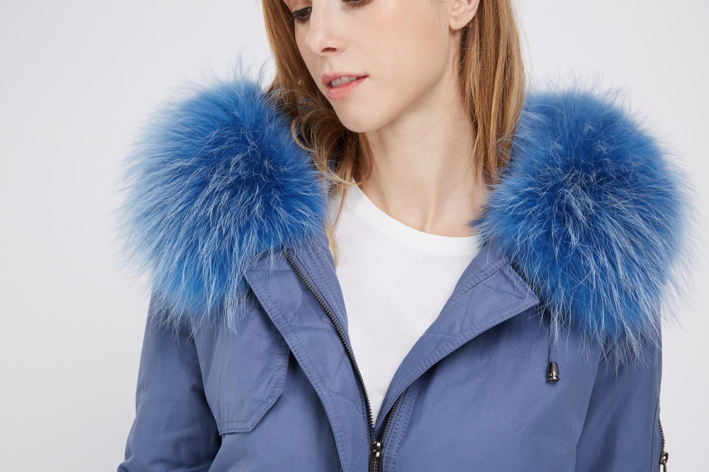 Detachable Fox Fur Lined Parka with Raccoon Fur Trimmed Hood 248 Details 1