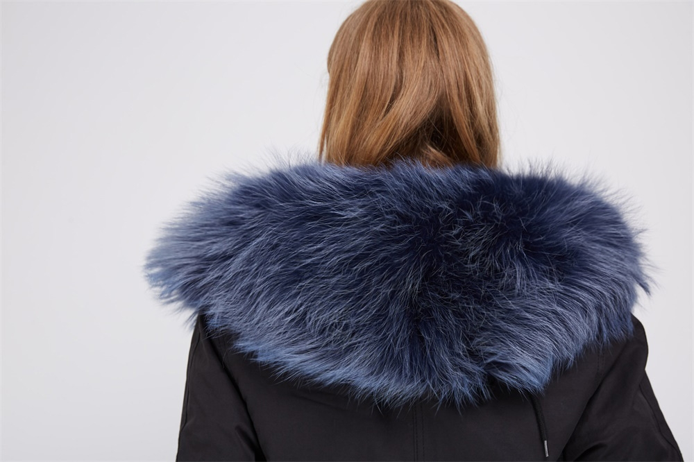 Detachable Fox Fur Lined Parka with Raccoon Fur Trimmed Hood 250 Details 2