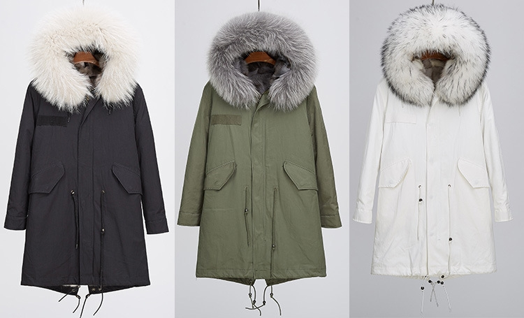 Detachable Fox Fur Liner Parka with Raccoon Fur Trimmed Hood 251 Details 1