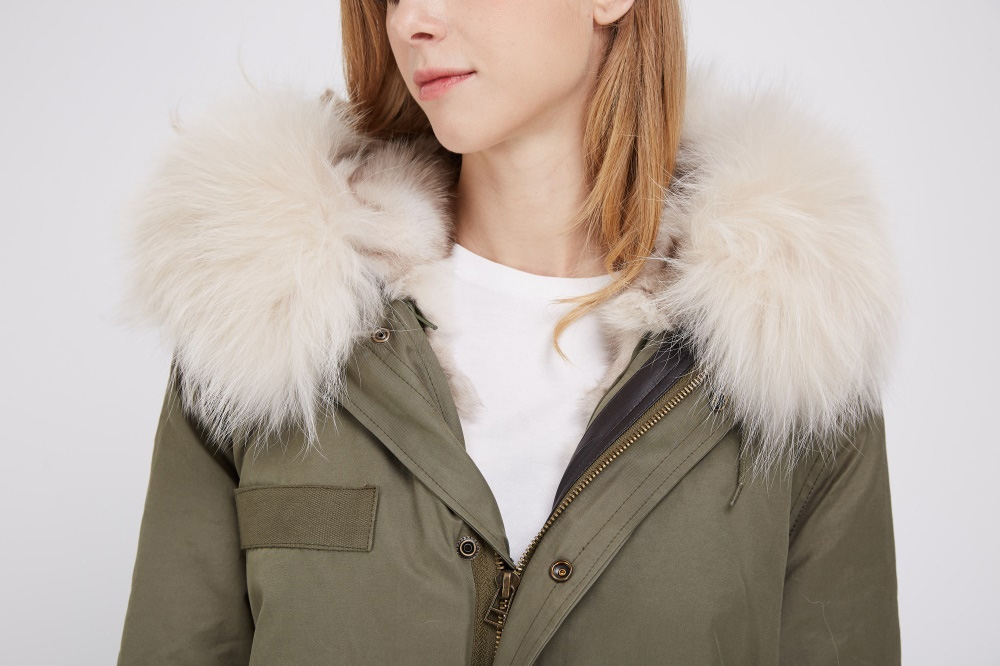 Detachable Fox Fur Liner Parka with Raccoon Fur Trimmed Hood 251 Details 2