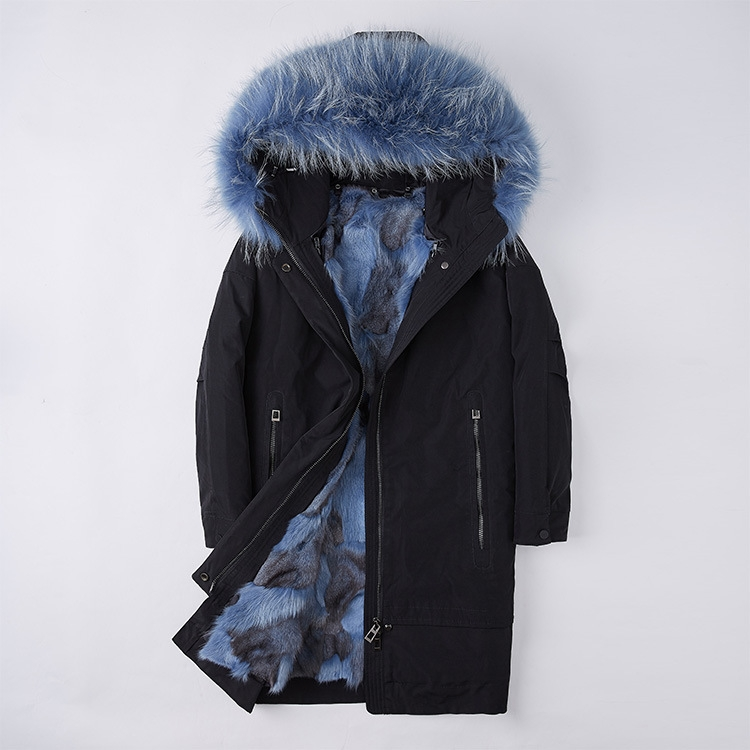 Raccoon Fur Trimmed Hood Parka with Detachable Fox Fur Liner 252 Color 5