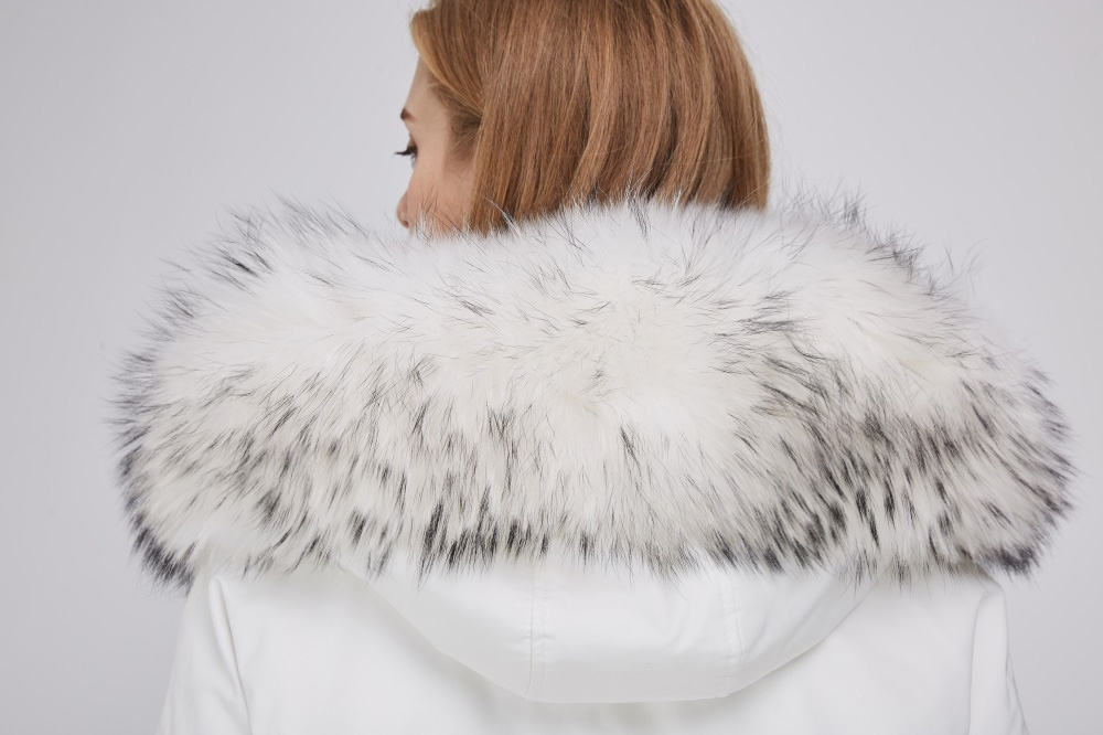 Raccoon Fur Trimmed Hood Parka with Detachable Fox Fur Liner 252 Details 2
