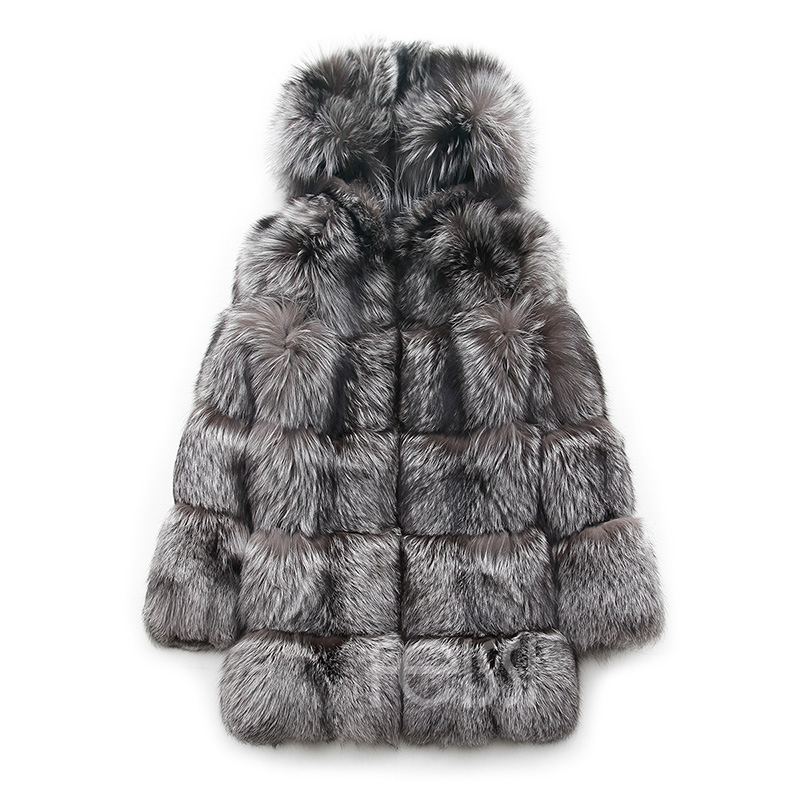 Silver Fox Fur Coat 254 Details 20
