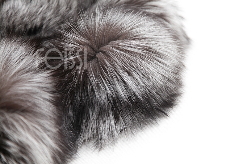 Silver Fox Fur Coat 254 Details 22