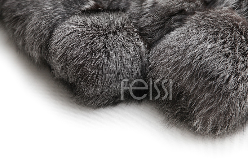 Silver Fox Fur Coat 254 Details 24