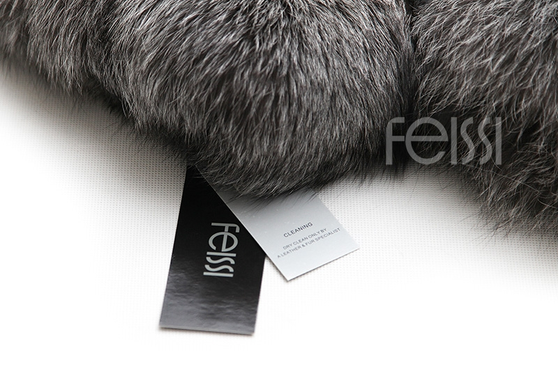 Silver Fox Fur Coat 254 Details 25