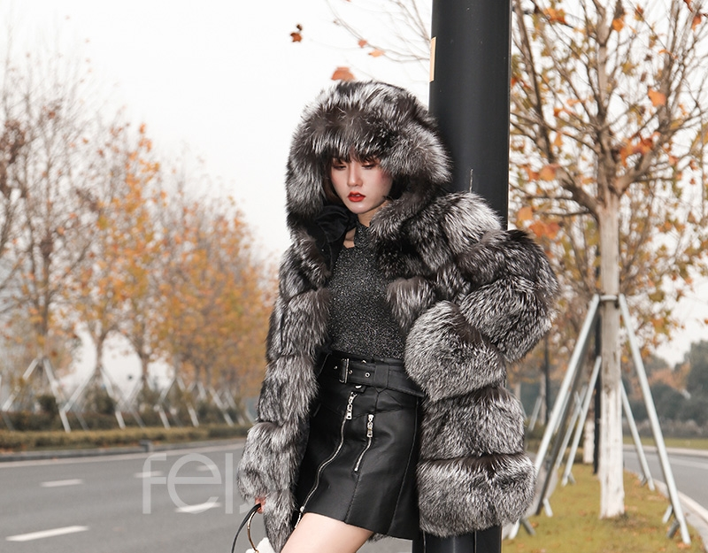 Silver Fox Fur Coat 254 Details 8