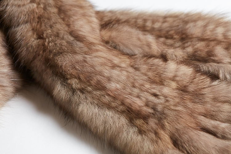Knitted Sable Fur Scarf 264 Details 2