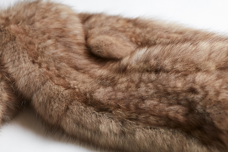 Knitted Sable Fur Scarf 264 Details 3