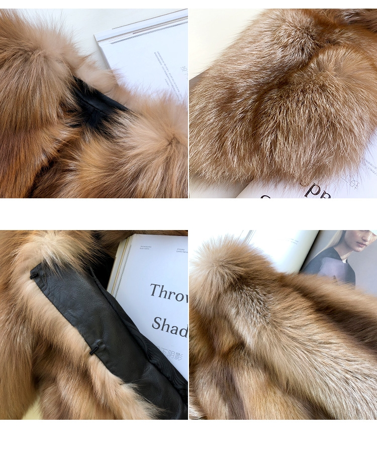 Chocolate Fox Fur Jacket 265 Details 4
