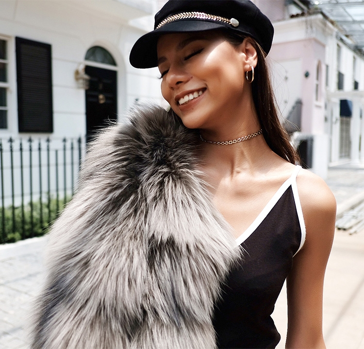 Cropped Silver Fox Fur Jacket 270 Details 7