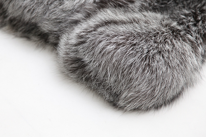 Cropped Silver Fox Fur Jacket 273 Details 10