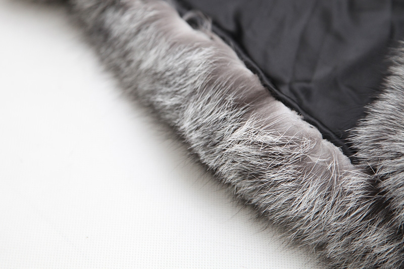 Cropped Silver Fox Fur Jacket 273 Details 11