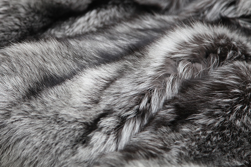 Cropped Silver Fox Fur Jacket 273 Details 7