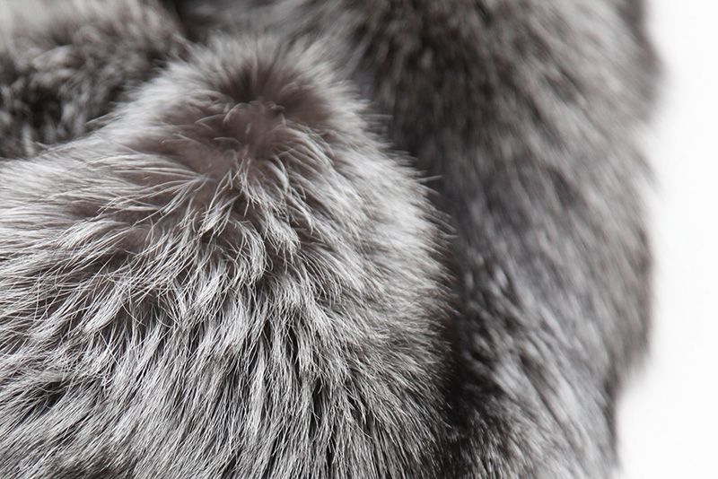 Cropped Silver Fox Fur Jacket 273 Details 9
