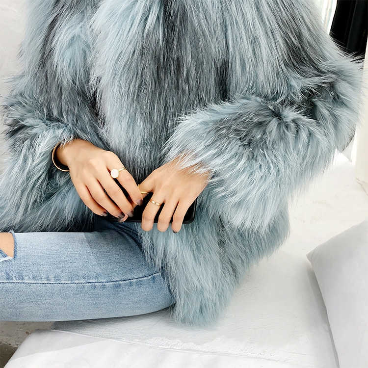 Cropped Knitted Fox Fur Jacket 275 Details 9