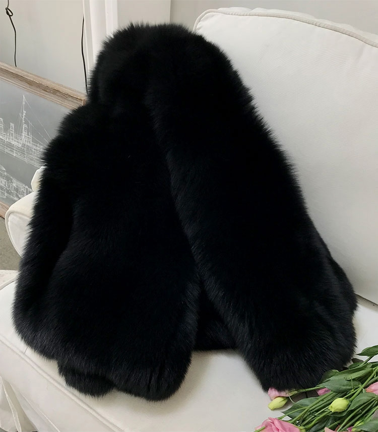 Fox Fur Coat-Black 279-1