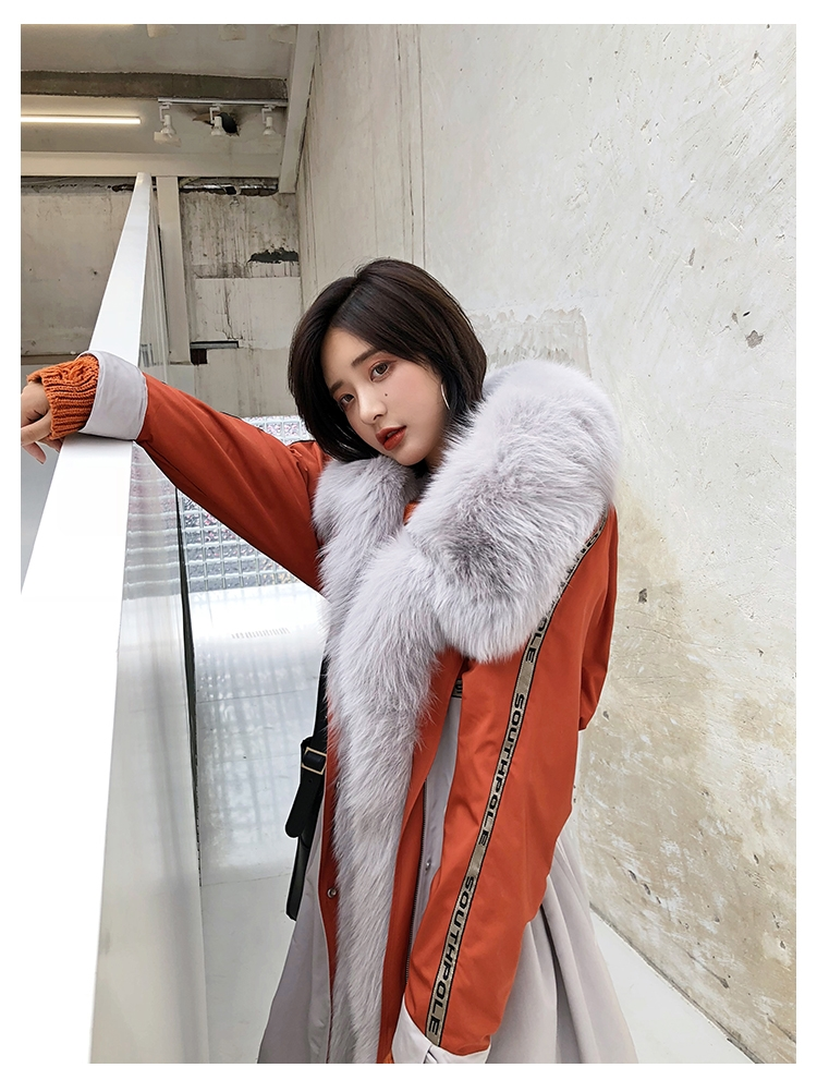 Fox Fur Trim Long Parka with Down-Filled Liner 282-7