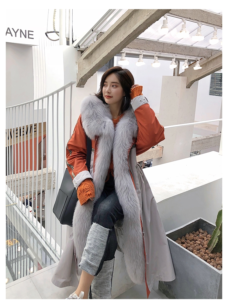 Fox Fur Trim Long Parka with Down-Filled Liner 282-8