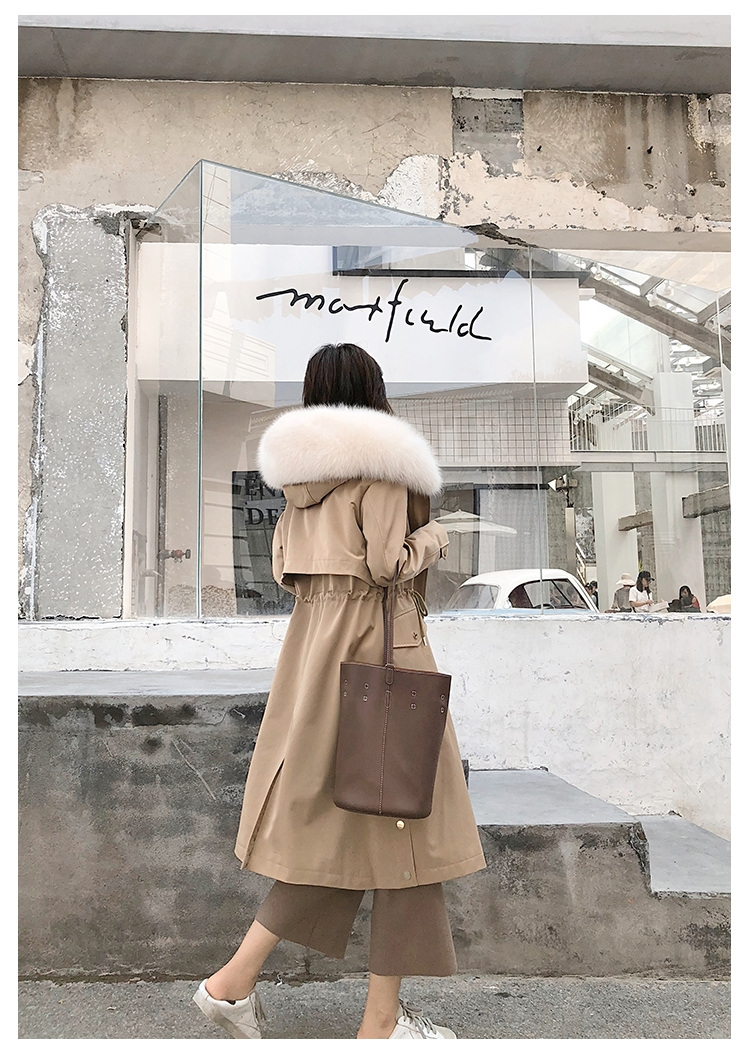 Hooded Fox Fur Trimmed Long Parka with Rex Rabbit Liner 283-5