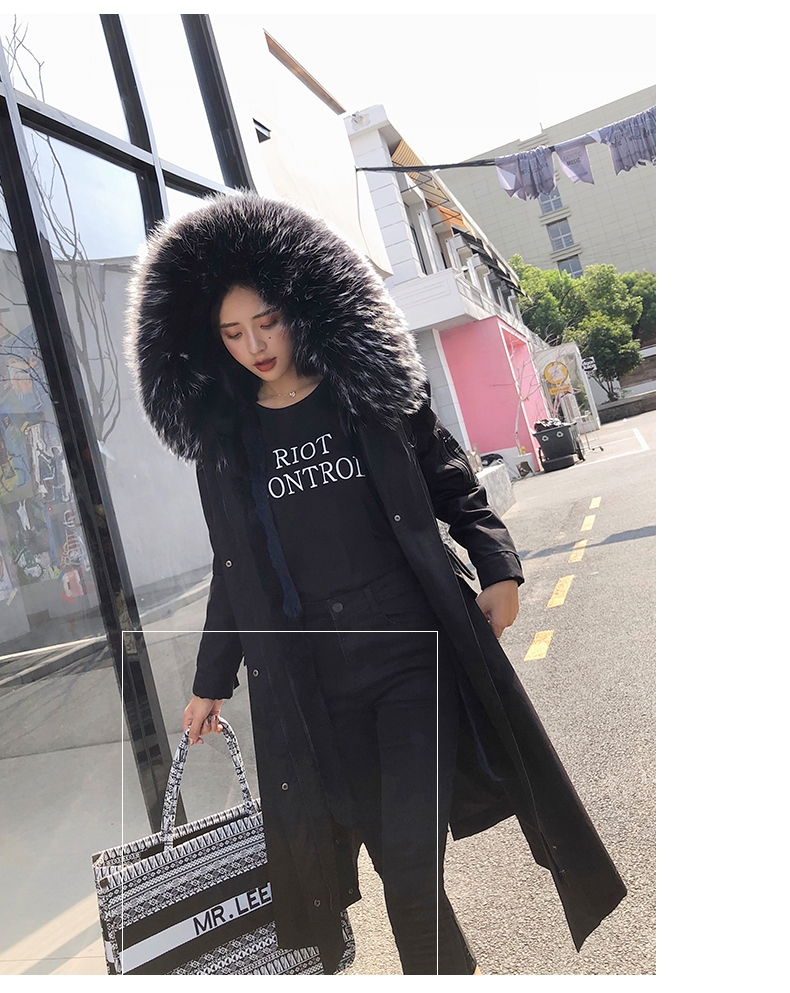 Hooded Fox Fur Trimmed Long Parka with Rex Rabbit Liner 283-7