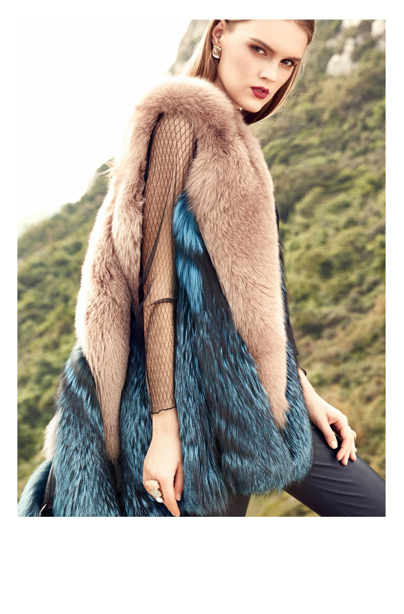 Two-Tone Fox Fur Vest 289-2
