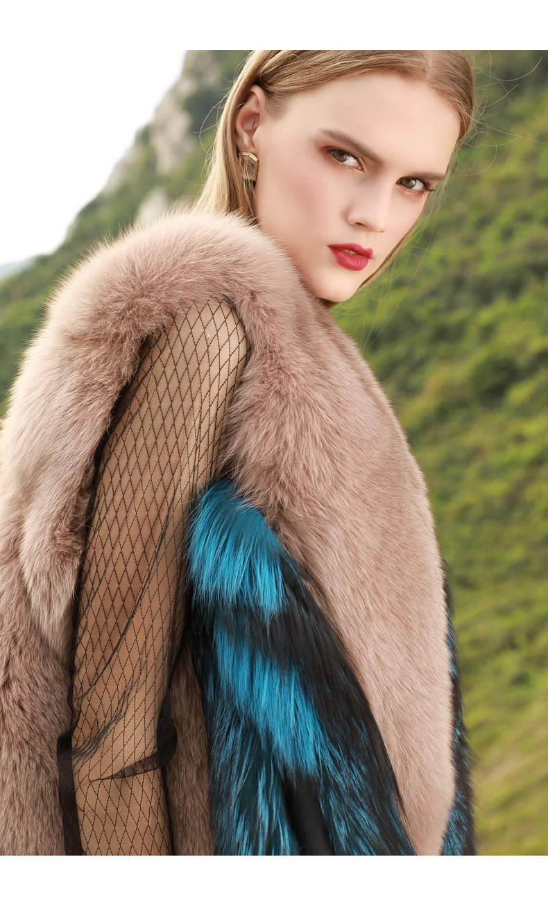Two-Tone Fox Fur Vest 289-5