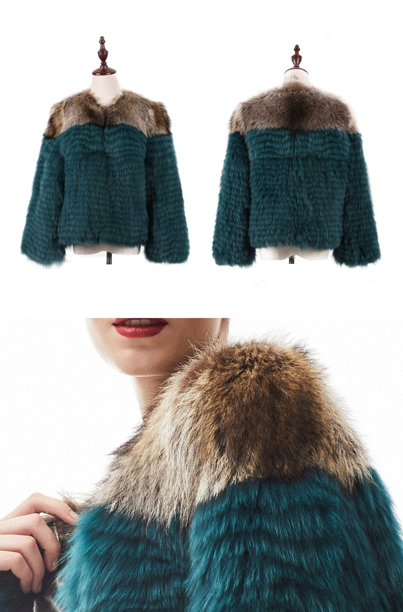 Cropped Fox Fur Jacket 296-1