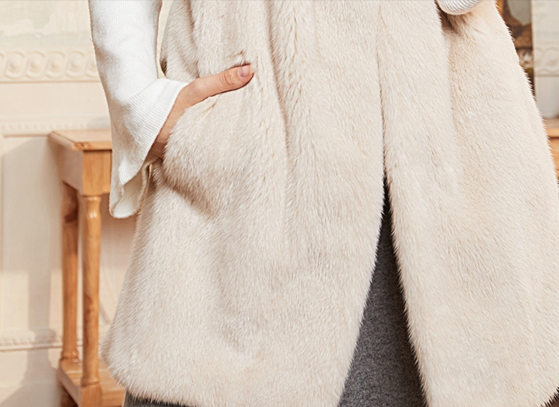 Mink Fur Vest with Cashmere Back 298-4