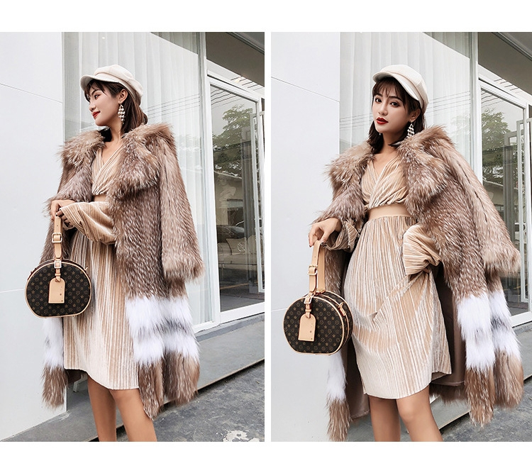 Knitted Fox Fur Coat 301-1