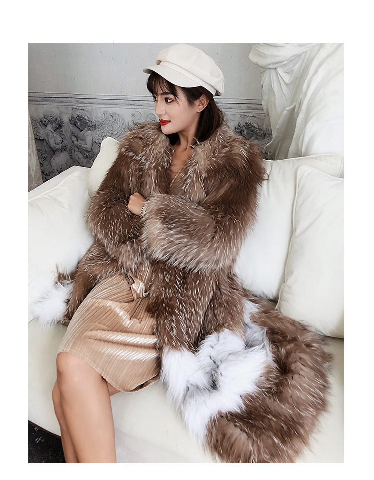 Knitted Fox Fur Coat 301-2