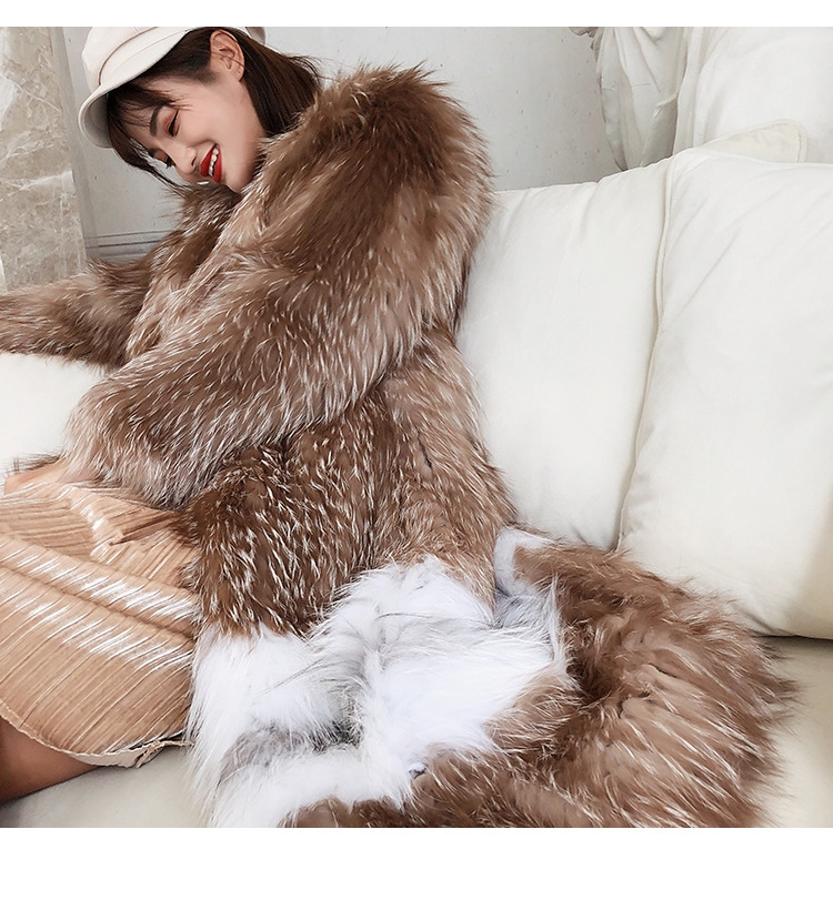 Knitted Fox Fur Coat 301-3