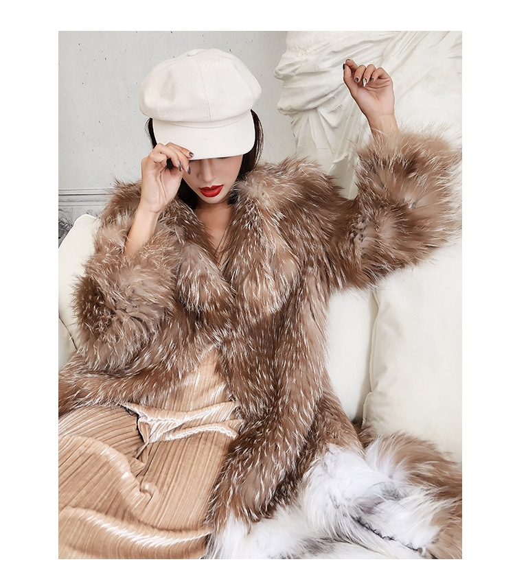 Knitted Fox Fur Coat 301-4