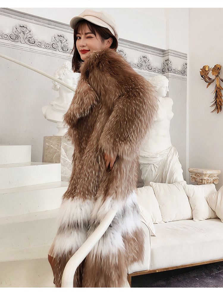 Knitted Fox Fur Coat 301-5