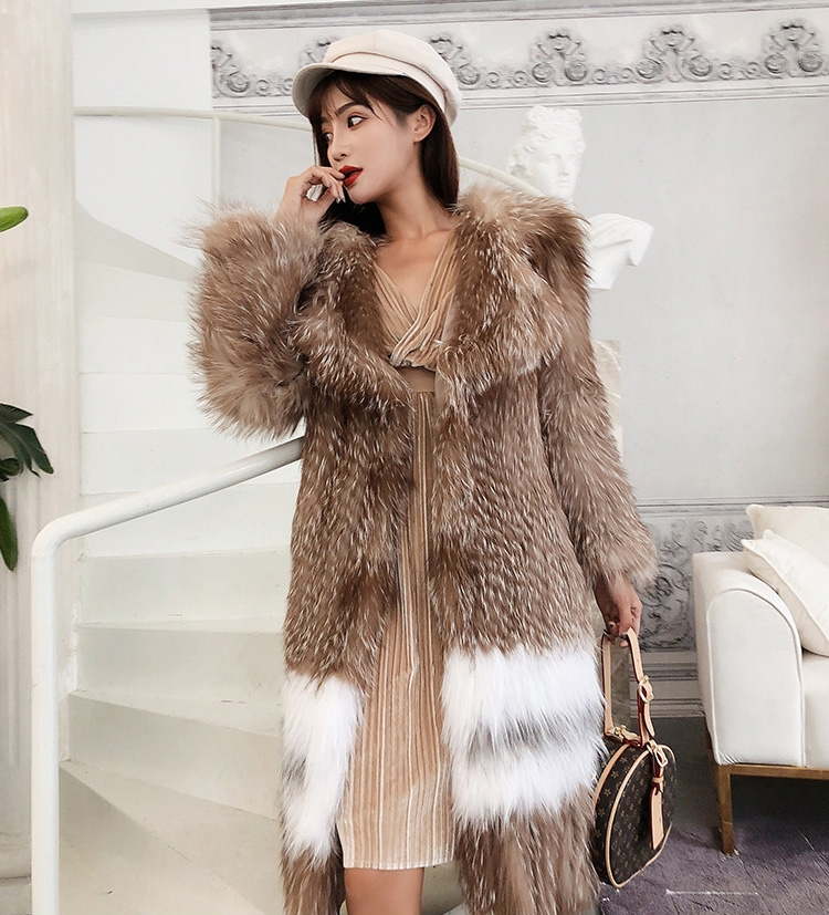 Knitted Fox Fur Coat 301-6
