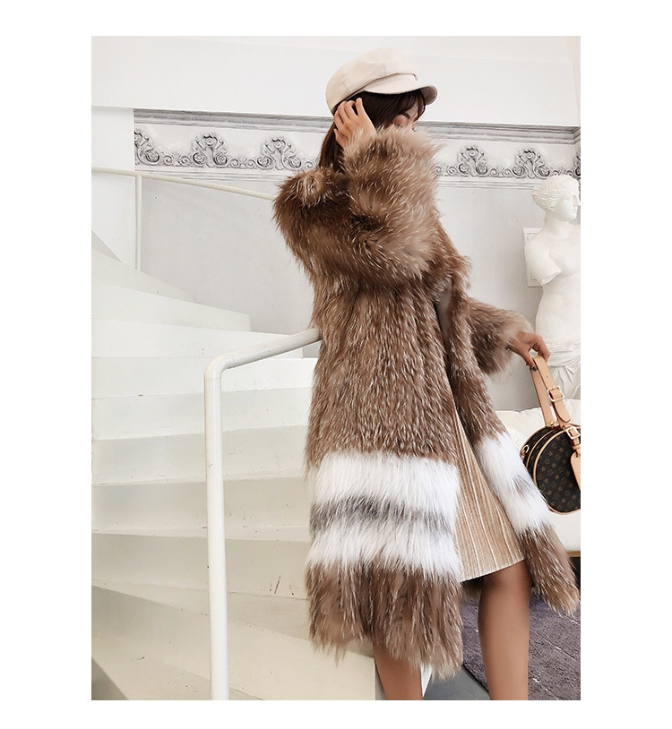Knitted Fox Fur Coat 301-7