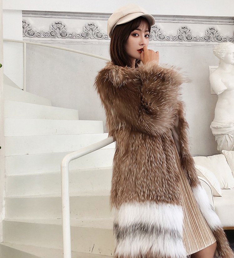 Knitted Fox Fur Coat 301-8